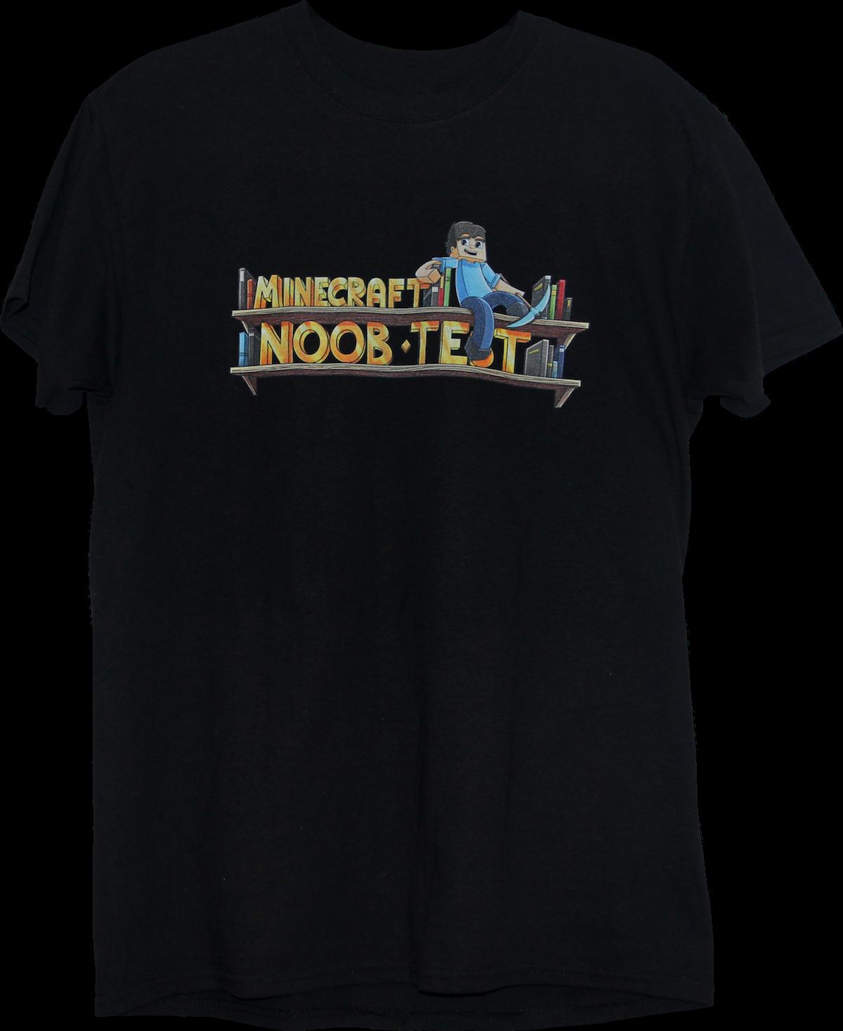 Minecraft Noob Test - One Sided Logo T-Shirt